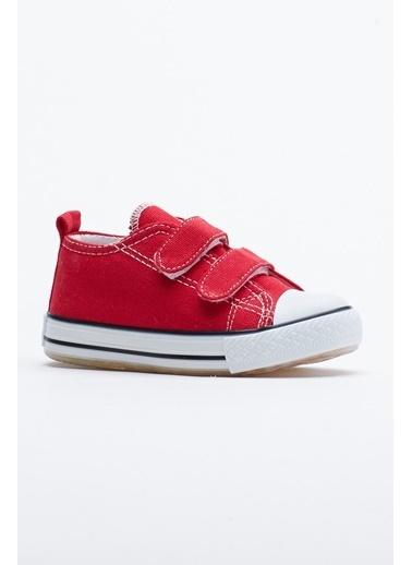 Tonny Black Kırmızı Çocuk Spor Ayakkabı Işıklı Cırtlı Tb997 Kırmızı